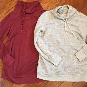 Two maternity sweatshirts